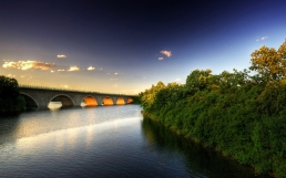 bridge_river_trees_sky_929_2560x1600