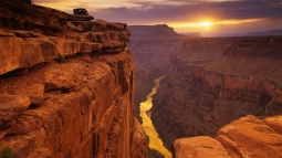canyons_river_height_look_landscape_yellow_wall_stone_63439_1366x768