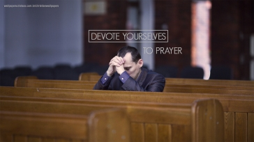 Man praying in church