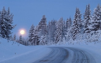 full_moon_night_sky_road_lifting_snow_wood_trees_48290_1920x1200