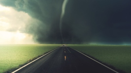 road_tornado_asphalt_marking_strip_blackness_clouds_60720_1366x768