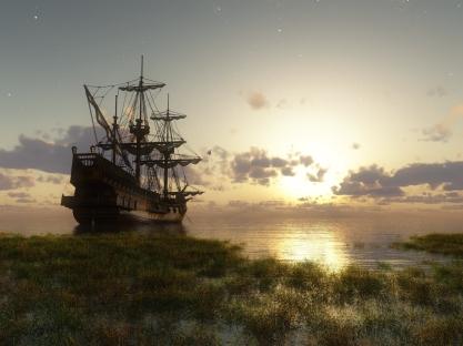 ship_bank_grass_sky_stars_14823_1600x1200