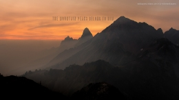 the-mountain-peaks-belong-to-him-christian-wallpaper-hd_1366x768