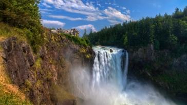 waterfall_flowing_rocks_hill_92765_1366x768