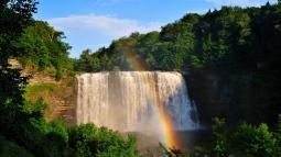 waterfall_rainbow_trees_90401_1366x768