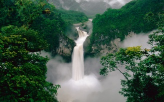 waterfall_trees_couples_95981_1920x1200