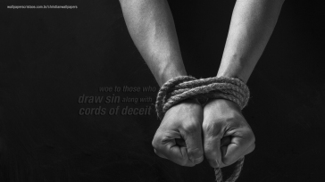 Woe-those-draw-sin-along-cords-deceit-christian-wallpaper-hd_1366x768
