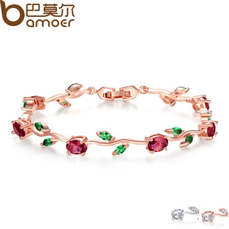 BAMOER-Rose-Gold-Color-Leaf-Chain-Link-Bracelet-with-Red-Green-AAA-Zircon-for-Mother-Gifts.jpg_640x640 (1)