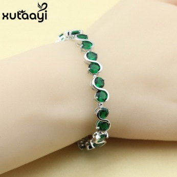 Classy-Imitated-Green-Stones-White-CZ-925-Silver-Prominent-Chain-Link-Bracelet-Women-Fashion-Health-Length.jpg_640x640