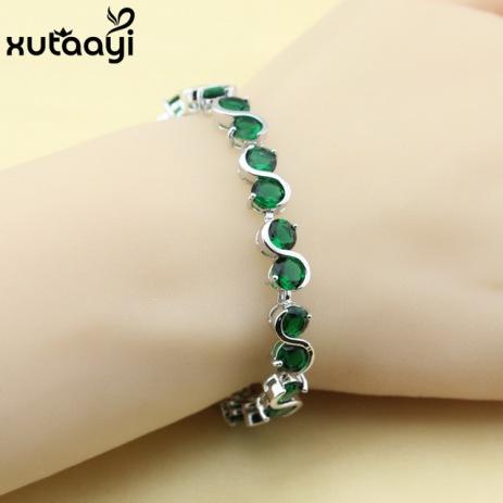 Classy-Imitated-Green-Stones-White-CZ-925-Silver-Prominent-Chain-Link-Bracelet-Women-Fashion-Health-Length.jpg_640x640