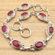LONG-Bracelet-8-1-8-Inches-CUT-RED-rubi-Gemset-Silver-Plated-STYLISH-Jewelry.jpg_640x640