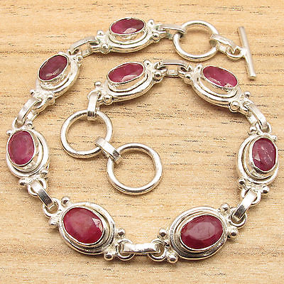 LONG-Bracelet-8-1-8-Inches-CUT-RED-rubi-Gemset-Silver-Plated-STYLISH-Jewelry.jpg_640x640