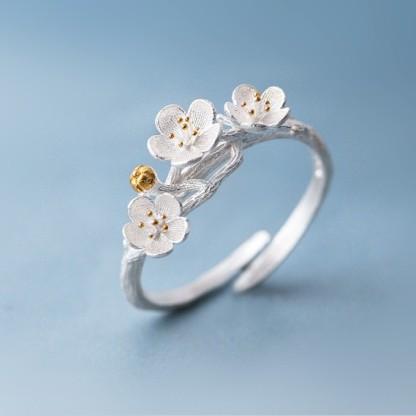 Shuangshuo-The-cherry-Blossom-Branch-Rings-for-Women-Adjustable-Flower-Finger-Ring-Women-Ring-Bagues-Strass