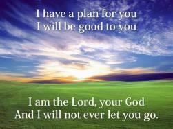 gods plan to you