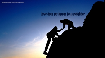 love-does-no-harm-to-a-neighbor-christian-wallpaper-hd_1366x768